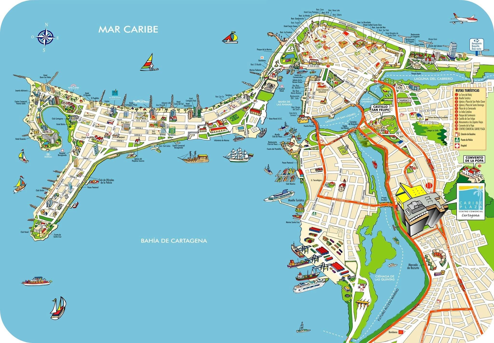 Cartagena-de-Indias-Colombia-Map